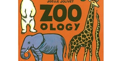 Today's book is all about the illustrations! Zoo-ology, by Joelle Jolivet is a great first animal encyclopedia.